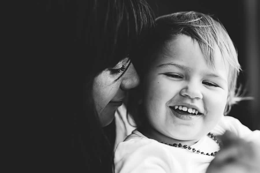 black and white portrait of mother and daughter she chose me family photography melbourne