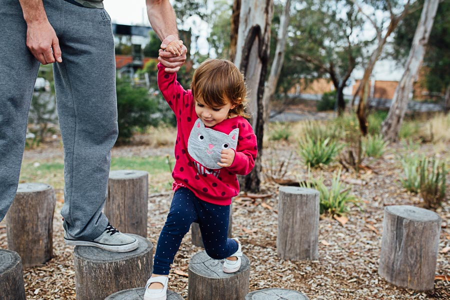 family photography melbourne child park swing