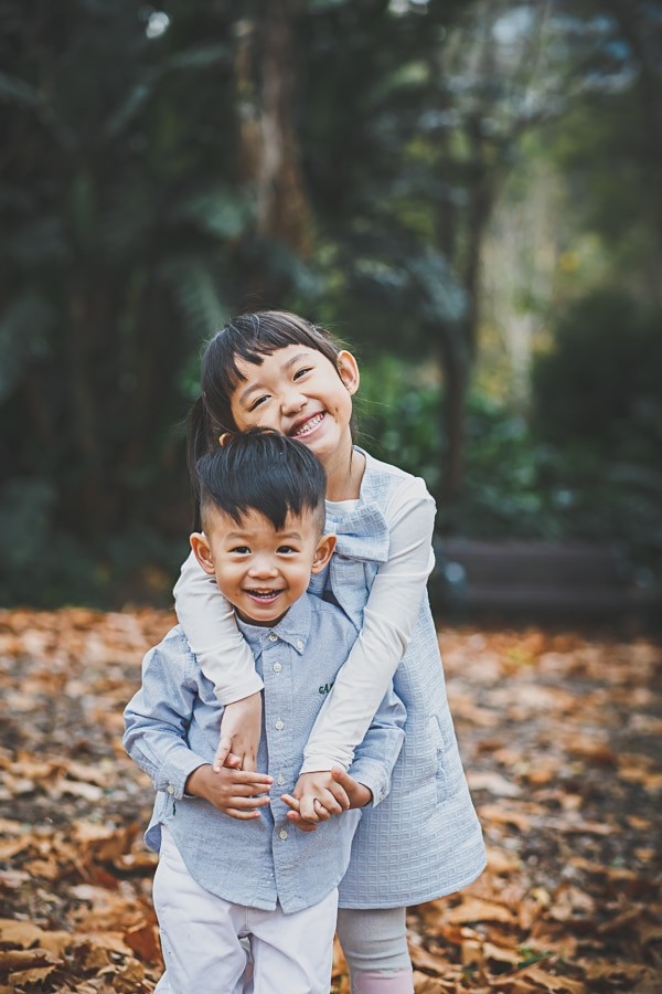 lifestyle photography melbourne fall sibling portrait