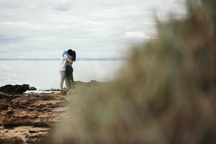 black rock couples photography melbourne lovers engaged love each other moment design beloved collective beach couples engagement session