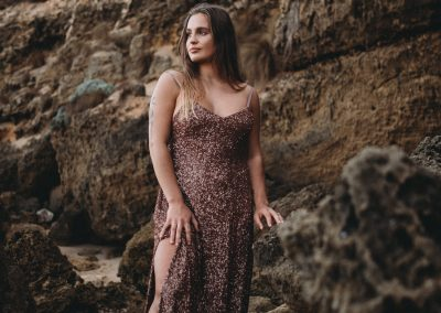 women portraits melbourne portrait photographer melbourne beach fashion shoot beach glamour sequins dress branding photographer melbourne photos for your business melbourne Livrie couture