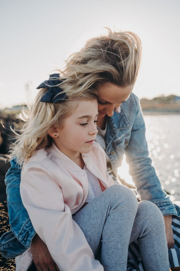 beach family photography melbourne mother and daughter on the beach sunset family photography melbourne family photographer